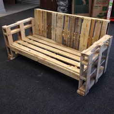 Reclaimed Pallet Wood Loveseat by JamiePCreations on Etsy