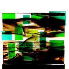 Abstract Mid Century Modern Art Glass Sculpture by coastalartglass, $295.00