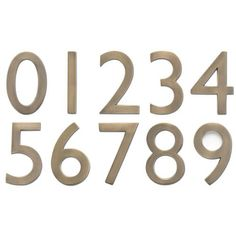 "Solid Brass Floating House Numbers, 4"", comes in dark copper finish"