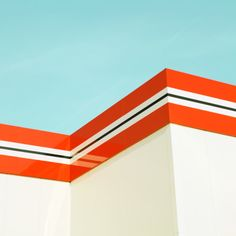 shape, form and color #white #orange