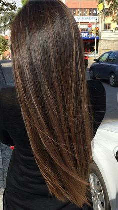 Beautiful Long Hair. Brunette Balayage Babylights. Emerald Forest with Sapayul for healthy, beautiful hair. Sulfate free shampoo products. shop at www.emeraldforestusa.com