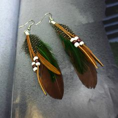 Boho Silver Plated Long Feather Earrings //Price: $11.00 & FREE Shipping //     #bohemian
