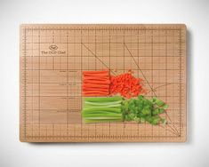 The OCD cutting board. Detailed gridlines for creating uniform symmetry. Perfect gag gift for perfectionists.
