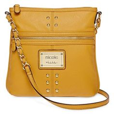 Nicole Miller Crossbody Bag in gold at JCPenney