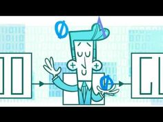 """Claude Shannon Google Doodle. 100th Birthday of """"The Father of Informati..."""