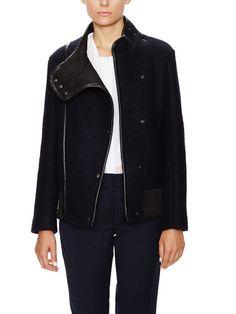 Match Wool Standing Collar Jacket