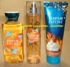 Pumpkin Cupcake Bath and Body Works Fragrance Mist Body Cream Shower Gel Bath And Body Works Perfume, Bath N Body Works, Perfume Body Spray, Fragrance Lotion, Bons Plans, Body Mist, Hygiene, Tips Belleza, Smell Good