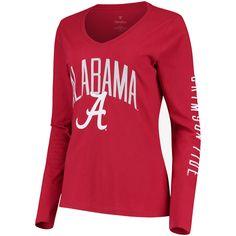 red NCAA  ALABAMA CRIMSON TIDE  girls//teens SMALL 4//6 v-neck t-shirt