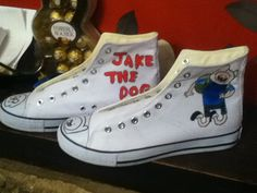 Adventure time shoes hand painted