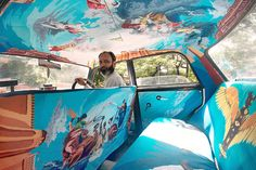 Taxi Fabric is turning the interiors of cabs into a beautiful piece of art, featuring the original work of local artists.