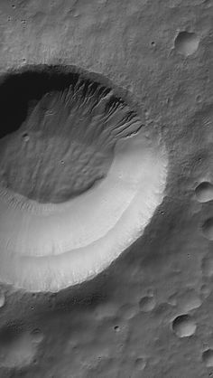 Weepy Crater August 20, 2013 This Mars Global Surveyor (MGS) Mars Orbiter Camera (MOC) image shows gullies