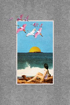 """Beachfront (diptych)"" by Eugenia Loli"" f-h-n-g.tumblr.com 
