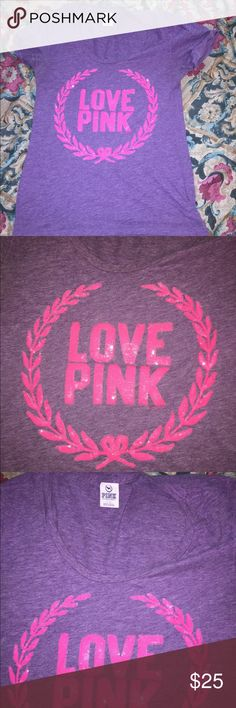 😍😍😍Victoria's Secret pink bling tshirt large EUC, form fitting!! EUC!! Make offers!! Tops Tees - Short Sleeve