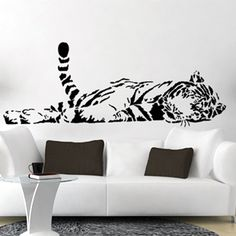 Free Shipping Wall stickers Home decor SIze:640mm*1650mm PVC Vinyl paster Removable Art Mural tiger l-127 $14.00