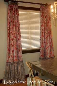 Ballgown detail - I need to do something like this in my dining room because the drapes are too short,