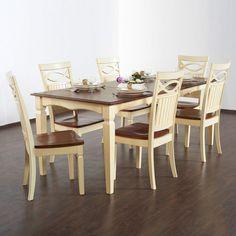 ESSGRUPPE VINTAGE USED ESSZIMMER SET ESSTISCH 6 STÜHLE MASSIVHOLZ TISCH GARNITUR in Möbel & Wohnen, Möbel, Tisch- & Stuhl-Sets | eBay