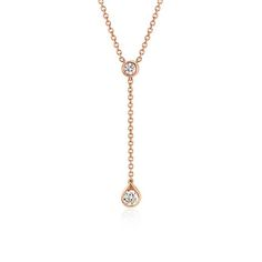 Diamond Drop Pendant in 14k Rose Gold (1/4ct tw)