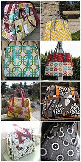Weekender bag - pattern by Amy Butler Sewing Tutorials, Sewing Crafts, Sewing Projects, Purse Patterns, Sewing Patterns, Duffle Bag Patterns, Bag Sewing, Fabric Bags, Quilted Bag
