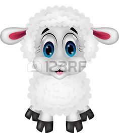 Dibujos animados lindo de las ovejas photo