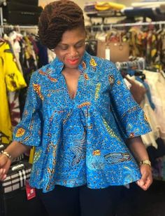 Ankara for big tummy Short African Dresses, African Blouses, African Shirts, African Print Dresses, African Fashion Ankara, Latest African Fashion Dresses, African Print Fashion, African American Fashion, Moda Afro