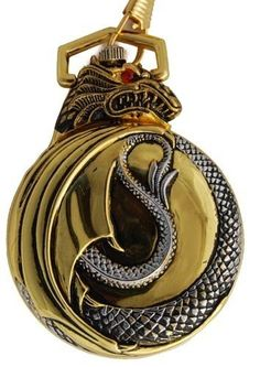 Pocket Watch for Men with Dragon. I know who would LOVE this. Dragons and pocket watch combined. Perfect match...