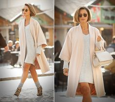 cream kimono coat on GalantGirl.com