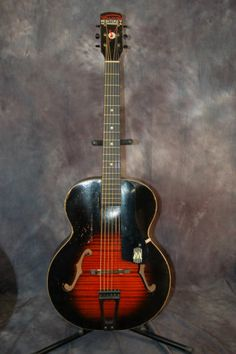Vintage RARE 1944 Wartime Harmony Monterey Archtop Guitar Pro Setup Easy Play | eBay..Give Lawman Guitars a call..515-864-6136