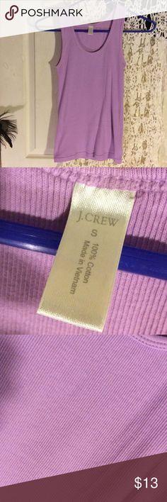 NWOT J. Crew lilac tank top NWOT beautiful lilac color ribbed tank top. J. Crew Tops Tank Tops