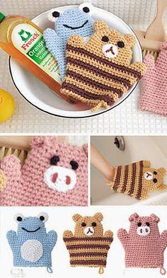 Bathroom Mits Free Crochet Patterns