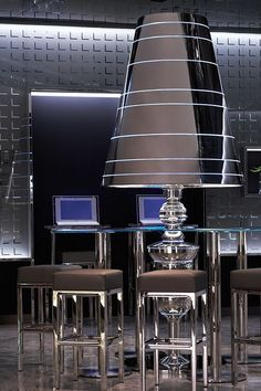 ♂ The modern & futuristic commercial space design with the dark furniture design in the Mira hotel HongKong by Charles Allem #futuristic #commercial #hotel
