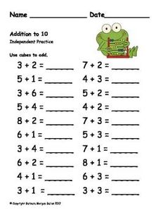 FREE PREVIEW FIRST GRADE MATH {FROG MATH} A FALL REVIEW - TeachersPayTeachers.com: