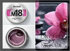 Orchid from #mosaic! A symbol of perfection! This is one of the latest colour added to the METALLIC COLLECTION!  Highly pigmented colour gel paint. Perfect for any type of design. Does not spread or run. Can be used for competition designs and for everyday salon designs. Cures under 36W UV lamp in just 1 minute. 5 ml. £10.50  www.susansnailstore.co.uk