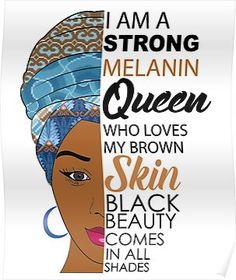 Strong Black Melanin Queen by blackartmattersYou can find Black women art and more on our website.Strong Black Melanin Queen by blackartmatters Black Love Art, Black Girl Art, My Black Is Beautiful, Black Girls Rock, Black Girl Magic, Black Girl Quotes, Black Beauty Quotes, Le Reiki, Queen Poster