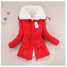 307a2291e52 New 2017 Women winter coat plus size slim. Outwear medium-long wadded  jacket Thick