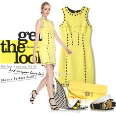"""""""Yellow reigns"""" by flowerchild805 on Polyvore"""