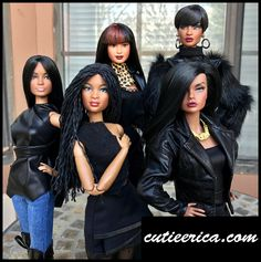 https://flic.kr/p/Qwa43o | Hair | I enjoy rerooting and restyling dolls. Here are my most recent projects. Front left to right: Uhura barbie with black reroot. Prettie girls doll with micro bead yarn hair reroot. Just my style Poppy Parker with hair taken down and new lip color. Back left to right: Northwest Coast Native American barbie reroot and cut with new lip color. Dominque Makeda with reroot, cut and new lip color.