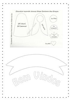 Divulgação de moldes, tutoriais, ideias e inspirações em feltro! Faith Crafts, Felt Crafts Patterns, Catholic Crafts, Felt Toys, Felt Art, Diy And Crafts, Place Card Holders, Banner, Alice