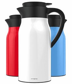 Vremi 51 oz Coffee Carafe - 1.5 liter Tea Thermos Large Travel Bottle Stainless Steel Vacuum Ice Cube Melting, Coffee Thermos, Frozen Coffee, Fair Trade Coffee, Travel Bottles, Coffee Cubes, Carafe, Coffee Beans, Coffee Shop