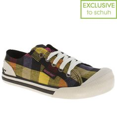 Women's Black & Purple Rocket Dog Jazzin Checks at schuh