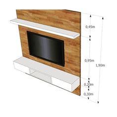 Fiquem ligados!! ✅✅ essas são as medidas ideais para instalação do seu painel para TV!! Além disso ...