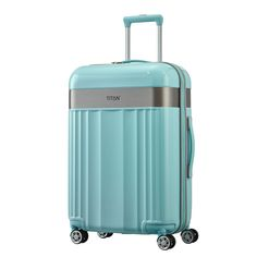 TITAN Spotlight Flash Trolley 67 cm 4 Rollen türkis #titan #reisen #travel #style #spotlight #koffer