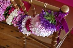 Dress the chair with flower garland