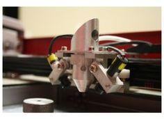 co2 laser head from 40 watt hobby laser machine