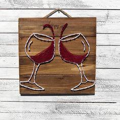 Wine Decor / String Art / Wine Art / Wine Wood Decor / Wine