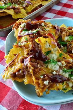 Pulled Pork Nachos from KatiesCucina.com