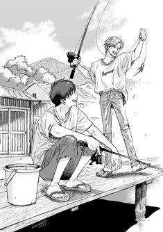 Manga Art, Anime Manga, Anime Boys, Drawing Poses Male, Banana Man, Fish Icon, Magazine Collage, Manga Games, Animation Film