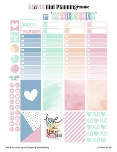 Love – Free Printable | BEaYOUtiful Planning