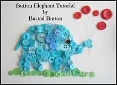 Button Animals DIY. Also, I know who I'll be making the rainbow frame for when they have a baby