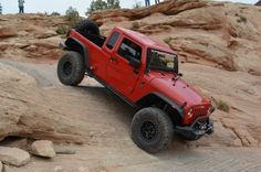 2012 Jeep Wrangler equipped with Mopar JK-8 conversion kit