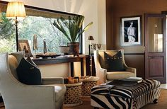 Beautiful African home decor ideas. Contemporary African decorating… The post African home decor ideas. African Themed Living Room, African Living Rooms, African Bedroom, African Interior Design, Home Interior Design, African Design, Modern Interior, Safari Living Rooms, Safari Theme Bedroom
